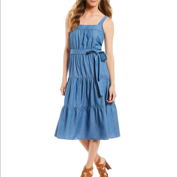 a498594b91 Michael Michael Kors chambray denim maxi dress. M 5b3e9cb4e944ba260a4a487c